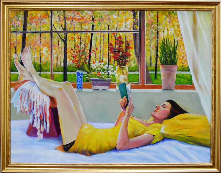 Woman in Repose Fine Art by Robert W. Moore