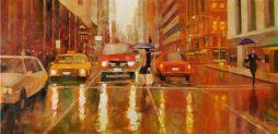 Downtown San Francisco 32.5 x 17.5  Oil on Canvas