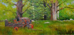 Berkshire Farm  48 x 24.5  Oil on Canvas