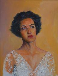 Portrait of a Lady  17x21 Oil on Board