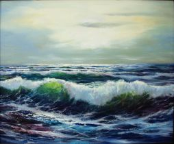 Seascape  24.5 x 20.5  Oil on Canvas
