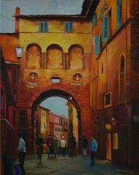 Sienna, Italy  15.5 x 20  Oil on Linen