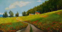 Linn County Spring   26x16  Oil on Board