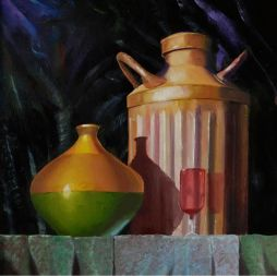 Still Life  13x14   Oil on Board