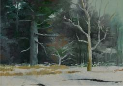 SOLD Stuck in Snow  9.5 x 7  Oil on Board  Framed