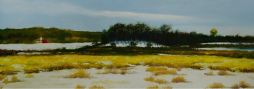 Yamhill County Scene  27x12  Oil on Board